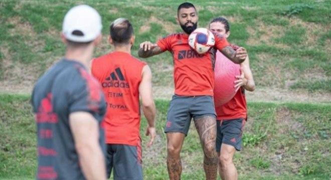 Treino do Flamengo - Gabigol