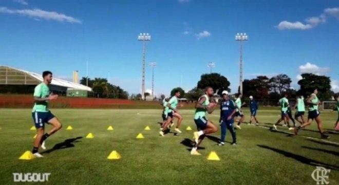 Treino Flamengo - Dugout