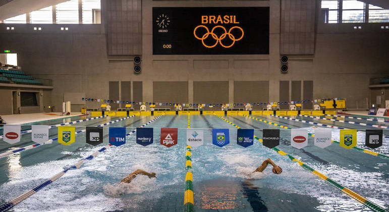Natação brasileira está treinando em Sagamihara, a 45 km da capital japonesa