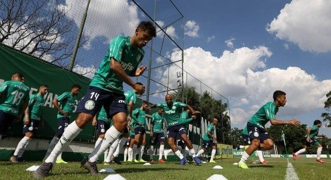 O Palmeiras treinou no fim de semana para jogo desta segunda