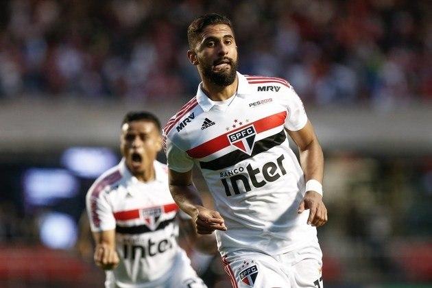Tréllez, centroavante colombiano do São Paulo, tem contrato até dezembro de 2021. Em 2019, foi emprestado ao Internacional, mas acabou não se firmando