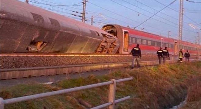 Trem saiu de Milão e tinha como destino a Salerno