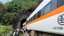 Acidente de trem em Taiwan deixa dezenas de mortos
