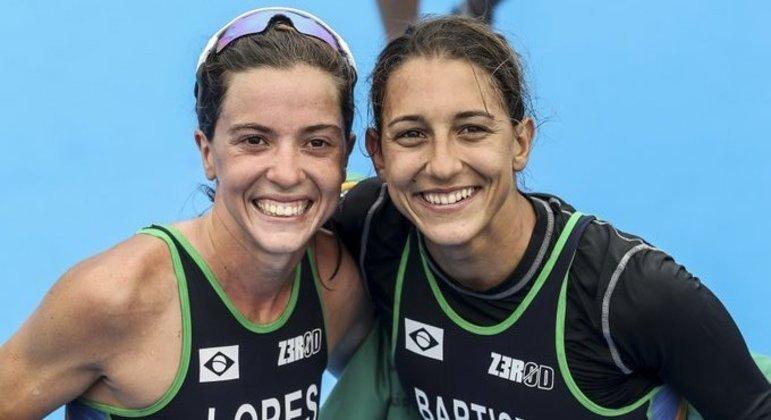 Vittoria Lopes e Luísa Baptista, do Triatlo