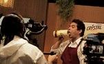 A descontração no bate-papo é uma das marcas registradas do programa. E segue também nos bastidores, como mostra o Rafael Maia.