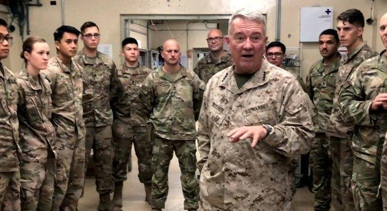 Comandante das forças norte-americanas no Oriente Médio, general Kenneth McKenzie