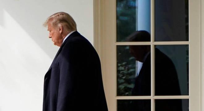 O presidente dos Estados Unidos Donald Trump está com covid-19