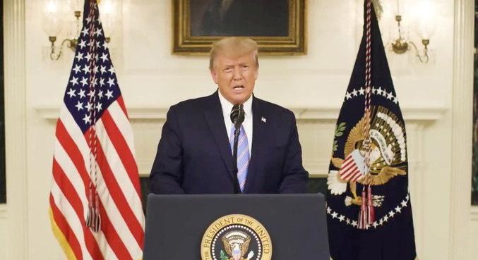 Trump aprova declaração de emergência para Washington para posse de Biden