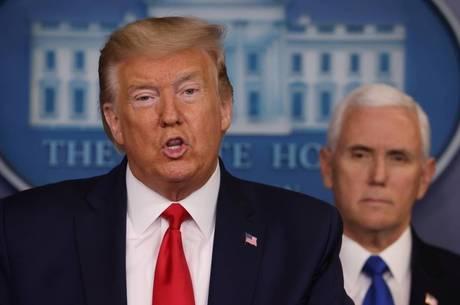 Trump elogiou trabalho de pesquisadores e da FDA