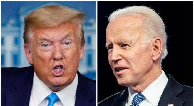 Donald Trump e Joe Biden concorrem na eleição presidencial dos EUA em 2020