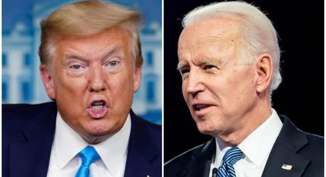 Donald Trump e Joe Biden concorrem nas eleições presidenciais dos EUA em 2020