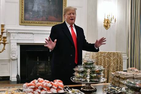 Trump serviu McDonald's para os atletas