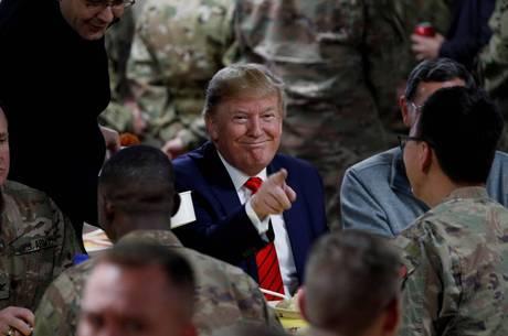 Trump fez visita surpresa aos soldados no Afeganistão