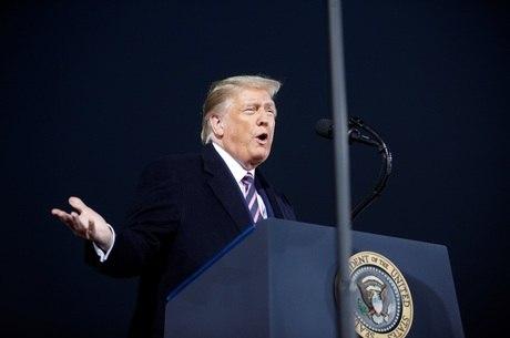 Trump durante comício na Pensilvânia