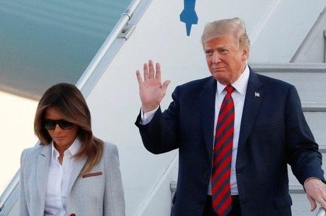 Trump desembarca em Helsinque para encontrar Putin