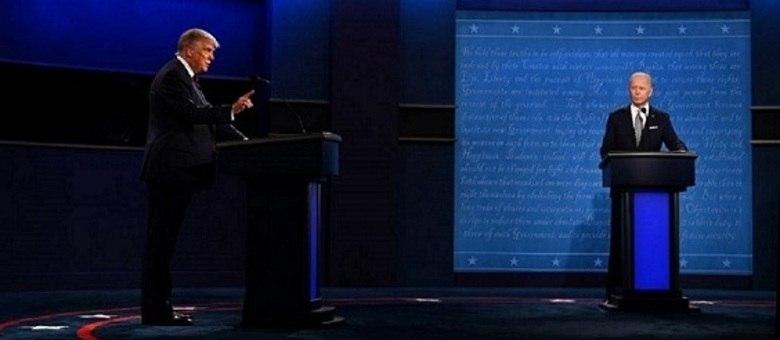 Trump e Biden no debate de terça-feira