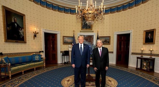 Trump e López Obrador se encontram em Washington