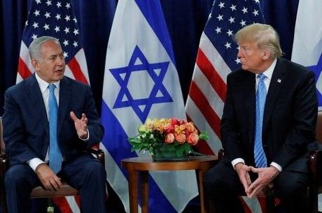 Netanyahu e Trump durante Assembleia-Geral da ONU