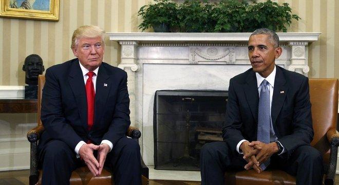 Donald Trump e Barack Obama em 2016