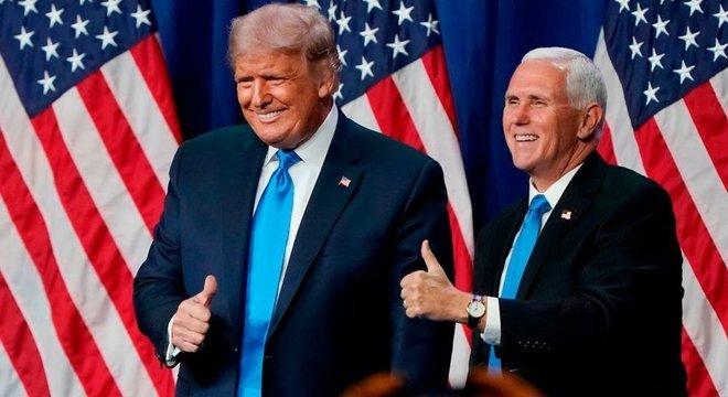 A chapa de Donald Trump e Mike Pence foi confirmada pelo Partido Republicano em agosto