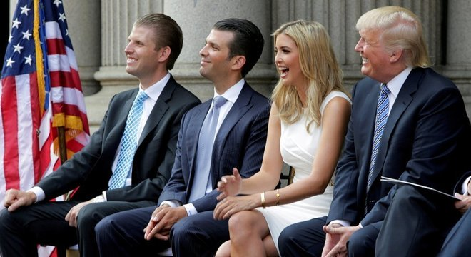 Trump conta com apoio incondicional de seus filhos