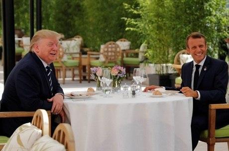 Macron afirmou que Trump é 'convidado especial'