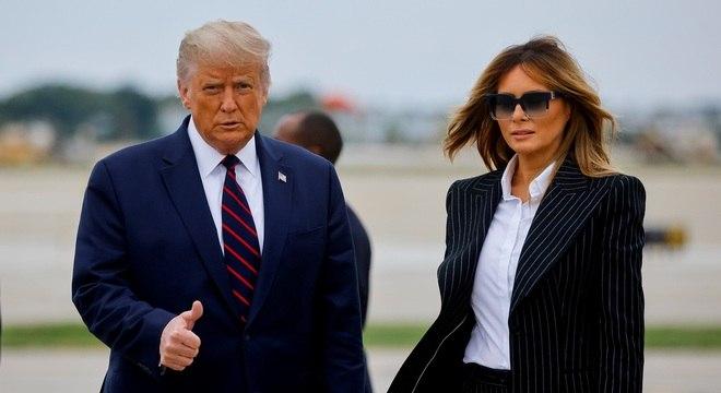 Presidente e primeira-dama ficarão isolados até que se recuperem