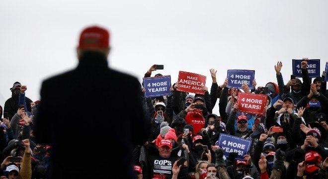 Donald Trump em campanha no Estado do Michigan