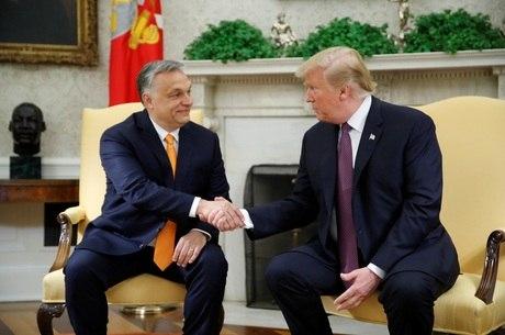 Trump elogiou política conservadora de Orban
