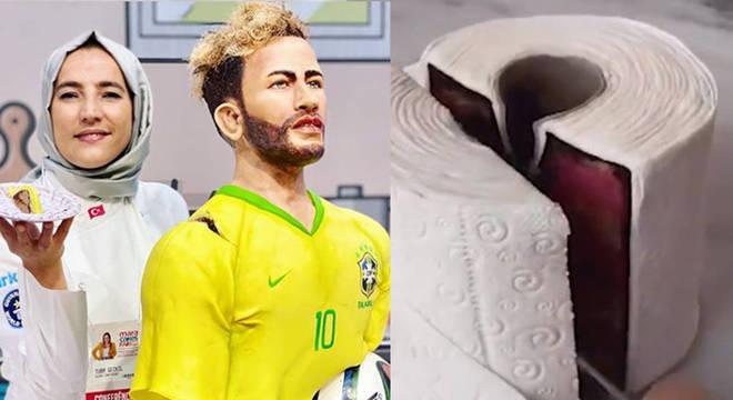 Bolos realistas são obras de confeiteira turca que fez doce com a cara de Neymar