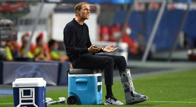 Thomas Tuchel, no jogo contra o RB Leipzig, 3 X 0