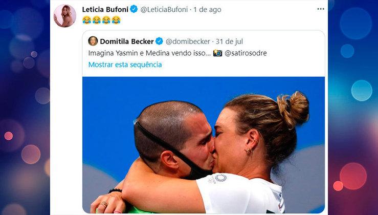 Tudo começou quando Leticia Bufoni compartilhou um meme brincando com a ausência forçada de Yasmin Brunet nas Olimpíadas de Tóquio
