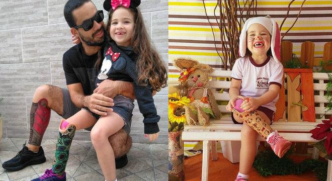 Pai se submete a 25 horas de sessões de tatuagem pela filha