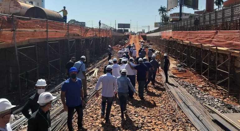 Obra do túnel de Taguatinga Centro provoca mudanças no trânsito na região
