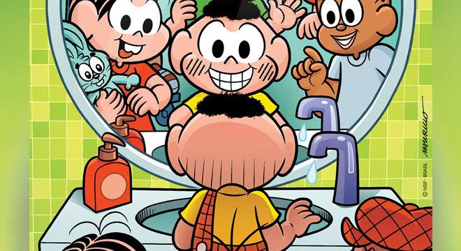 Cartunista usou personagens para reforçar práticas de higiene durante pandemia