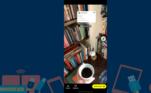 Depois de tirar seu Snap (vídeo ou foto), você pode mover e redimensionar o adesivo do tweet
