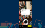 Feito isso, o aplicativo abrirá diretamente na câmera e o tweet que você deseja compartilhar aparecerá no meio da tela como um adesivo fixo