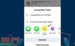Toque no ícone do Snapchat nas opções do menu
