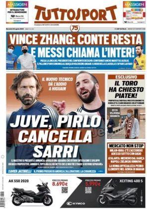Tuttosport (Itália) – 'Messi chama a Inter'.
