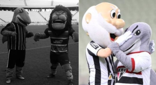 Leão e Vozão postaram fotos em homenagem ao mascote Tutuba