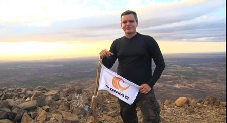 Tiago Medeiros, repórter aventura da TV Tropical