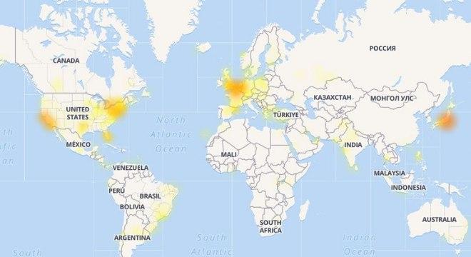 EUA, Europa e Japão são os mais afetado com instabilidade no Twitter