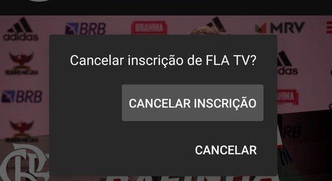 A resposta. Campanha de torcedores para cancelar inscrição na FlaTV