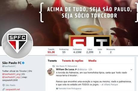 O São Paulo retuitou William