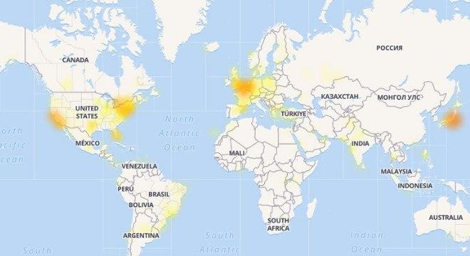 Brasil, EUA, Japão e países na Europa foram os mais afetados pela queda do Twitter