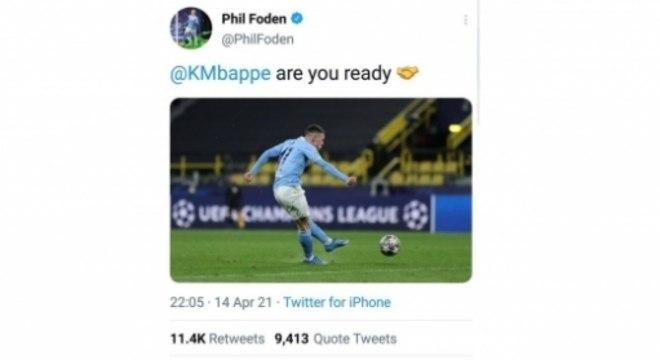 Twitter Phil Foden