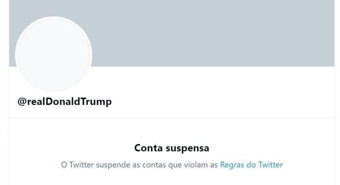 O Twitter suspendeu a conta do presidente dos EUA, Donald Trump