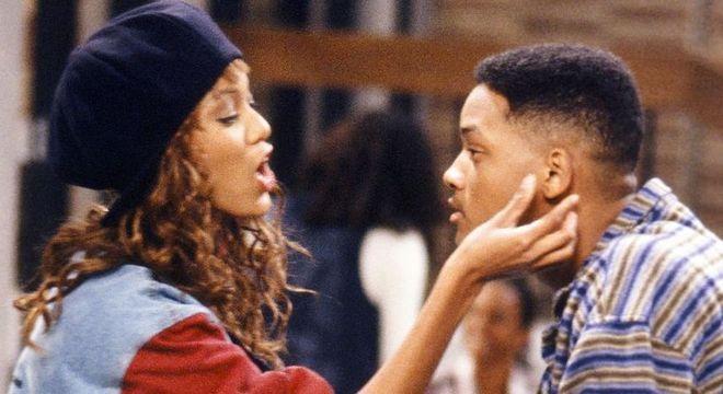 """Tyra e Will Smith em """"Um Maluco no Pedaço"""""""
