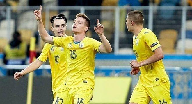 A celebração de Tsygankov, Ucrânia 1 X 0 Espanha