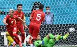 No segundo tempo, a Macedônia do Norte tentou reagir, jogando melhor e dominando grande parte da etapa e diminuiu a vantagem da Ucrânia com gol de Alioski, que perdeu o pênalti, mas conseguiu chegar no rebote e empurrar para o fundo do gol